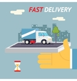 Fast Free Delivery Symbol Shipping Hourglass Timer vector image vector image
