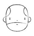 figure nice businessman face to kawaii avatar vector image vector image