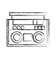 figure radio object technology to listen music vector image vector image