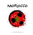 flag of morocco as an abstract soccer ball vector image vector image