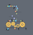 flat style concept lottery little people vector image