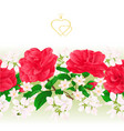 floral border seamless background with flowers vector image