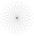 Flower lotus silhouette for design vector image vector image