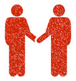 friend meeting grunge icon vector image vector image