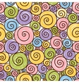 Funny pattern with spirals on a white background