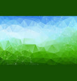 geometric blue and green polygonal background vector image vector image