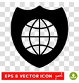 Global Shield Eps Icon vector image vector image