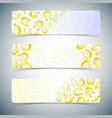 golden horseshoes banners set vector image vector image