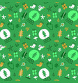 green christmas background eco friendly doodle vector image