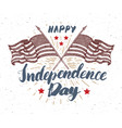 happy independence day fourth of july vintage vector image vector image