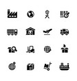 industry and logistics icons vector image vector image