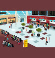inside the airport scene vector image