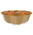 isolated pumpkin pie vector image