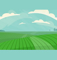 landscape green meadow field vector image