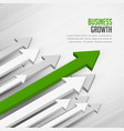 leading moving forward arrow concept background vector image vector image