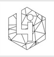 li geometric triangle block chain font vector image vector image