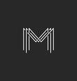 Monogram logo lettering letter M design business vector image vector image