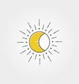 moon with sun creative logo icon symbol design vector image