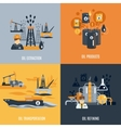 Oil Industry Flat Icon vector image vector image
