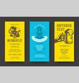 oktoberfest flyers or banners set vintage vector image vector image