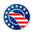 Patriotoc American emblem or badge vector image