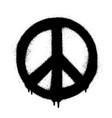 Peace symbol icon spray art