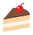 piece of cake flat icon food and drink vector image vector image