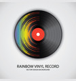poster of vinyl player record with rainbow colors vector image vector image