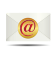 Red Email Sign On Gold Plate and Closed White vector image vector image