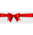 red satin bow isolated on background vector image vector image