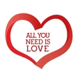 Romantic love design with red hearts vector image