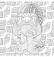 santa on winter knitted socks seamless pattern vector image vector image