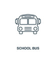 school bus outline icon creative design from vector image