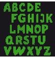 set letters for design vector image vector image