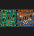 set of ethnic seamless patterns with geometric vector image vector image