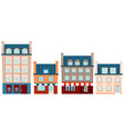 set of houses france vector image vector image