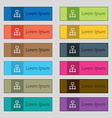 social network icon sign Set of twelve rectangular vector image