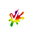 splash check mark vector image vector image