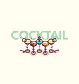 summer cocktails flat icon vector image vector image