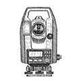 tacheometer hand drawn geodetic equipment vector image vector image