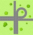 top view road junction vector image