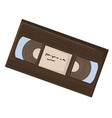 video cassette old school tape with film or clip vector image vector image