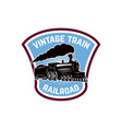 vintage train emblem template with retro vector image vector image