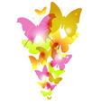 Watercolor butterflies design with flare vector image