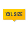 xxl size price tag vector image