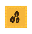 yellow emblem grains coffee icon vector image vector image