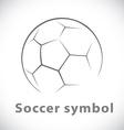 Soccer symbol icon vector image