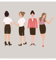 business woman standing isolated female full body vector image
