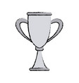 trophy award competition winner icon vector image