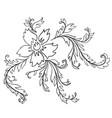 baroque pattern elements vector image